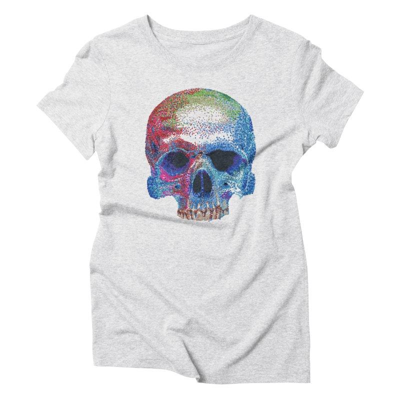 SKULL COLORFUL Women's T-Shirt by strawberrymonkey's Artist Shop