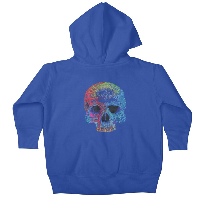 SKULL COLORFUL Kids Baby Zip-Up Hoody by strawberrymonkey's Artist Shop