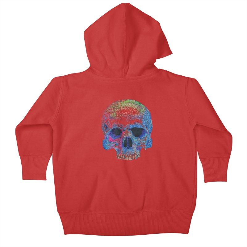 SKULL COLORFUL Kids Baby Zip-Up Hoody by strawberrymonkey's Artist Shop