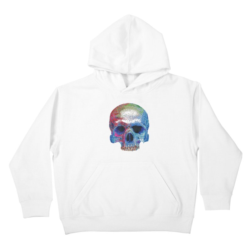 SKULL COLORFUL Kids Pullover Hoody by strawberrymonkey's Artist Shop