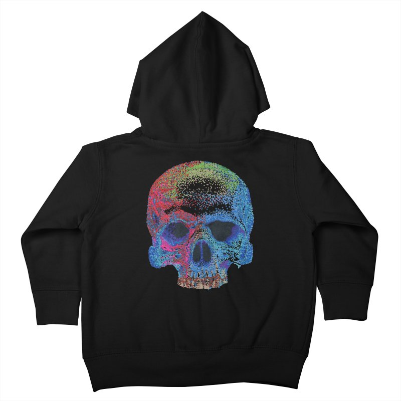 SKULL COLORFUL Kids Toddler Zip-Up Hoody by strawberrymonkey's Artist Shop