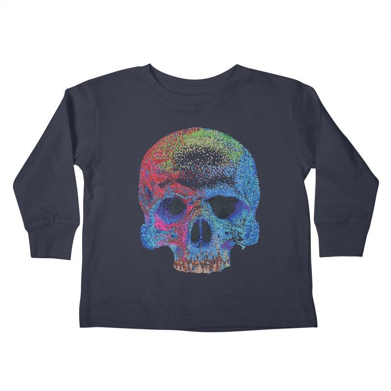 SKULL COLORFUL Kids Toddler Longsleeve T-Shirt by strawberrymonkey's Artist Shop