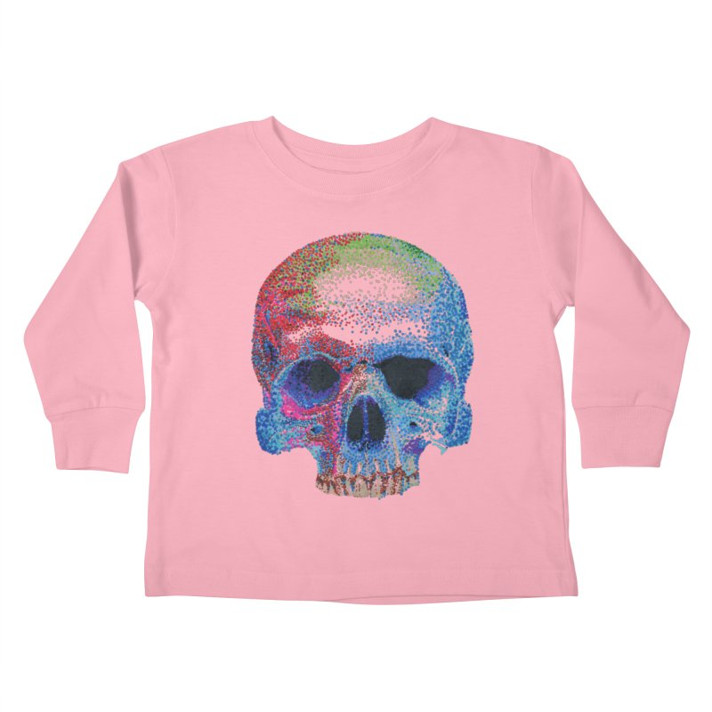 SKULL COLORFUL Kids Toddler Longsleeve T-Shirt by strawberrymonkey's Artist Shop