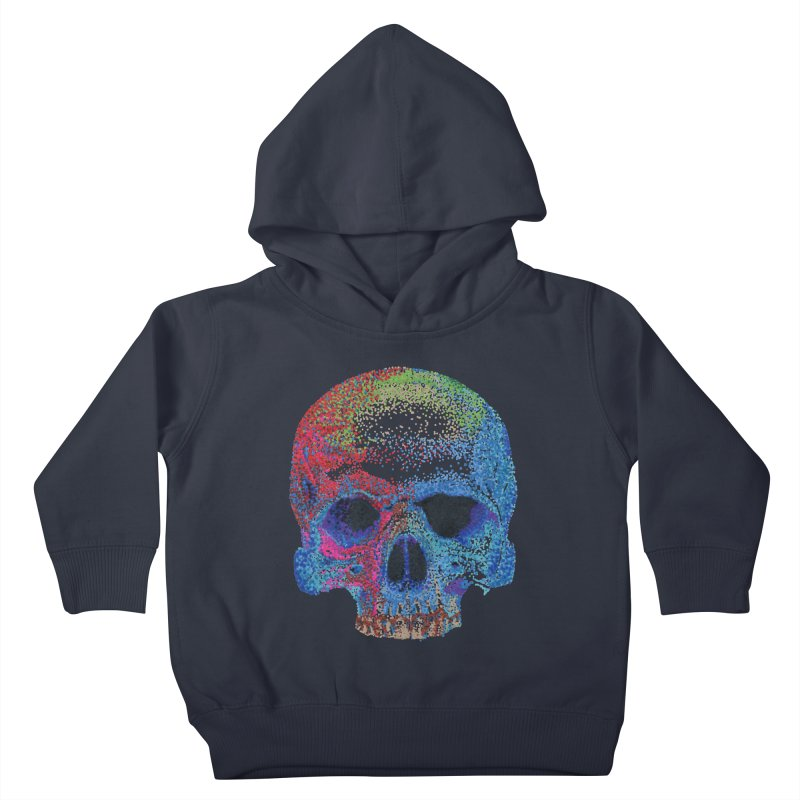 SKULL COLORFUL Kids Toddler Pullover Hoody by strawberrymonkey's Artist Shop