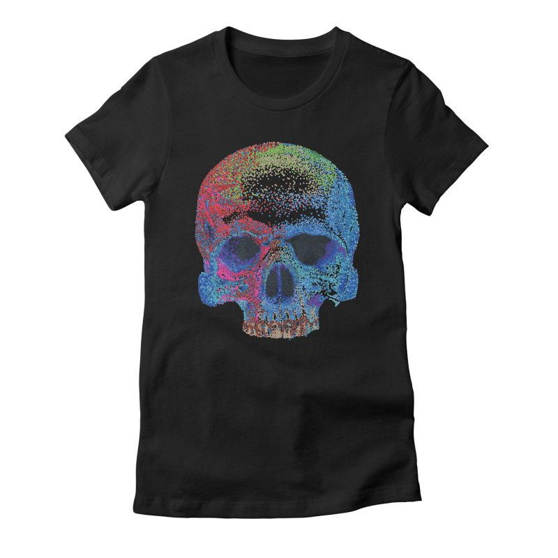 SKULL COLORFUL Women's T-Shirt by strawberrymonkey's Artist Shop
