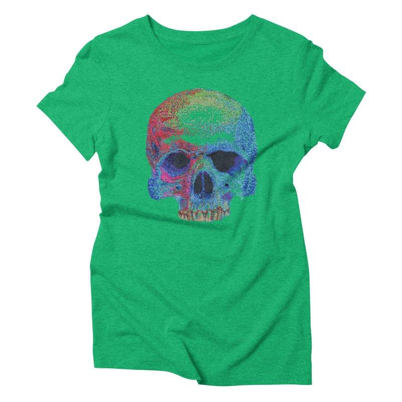 SKULL COLORFUL Women's Triblend T-Shirt by strawberrymonkey's Artist Shop