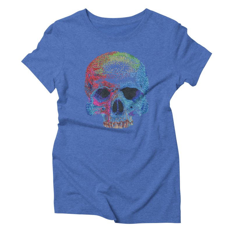 SKULL COLORFUL Women's Triblend T-Shirt by strawberrymonkey's Artist Shop