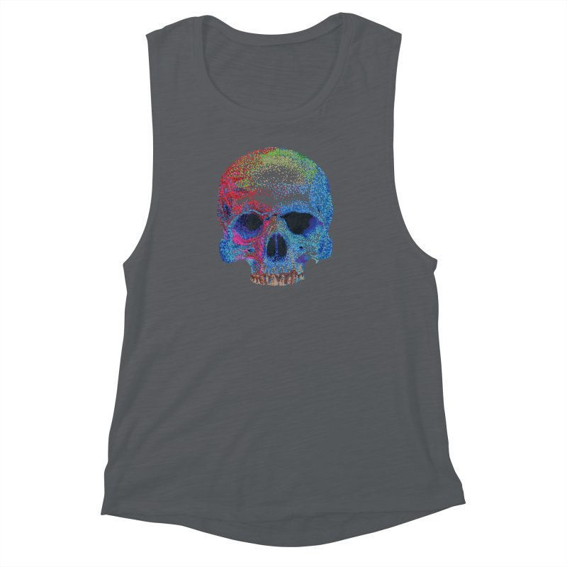 SKULL COLORFUL Women's Muscle Tank by strawberrymonkey's Artist Shop