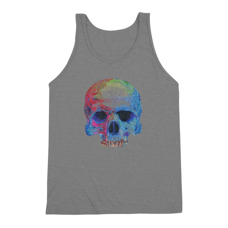 SKULL COLORFUL Men's Triblend Tank by strawberrymonkey's Artist Shop