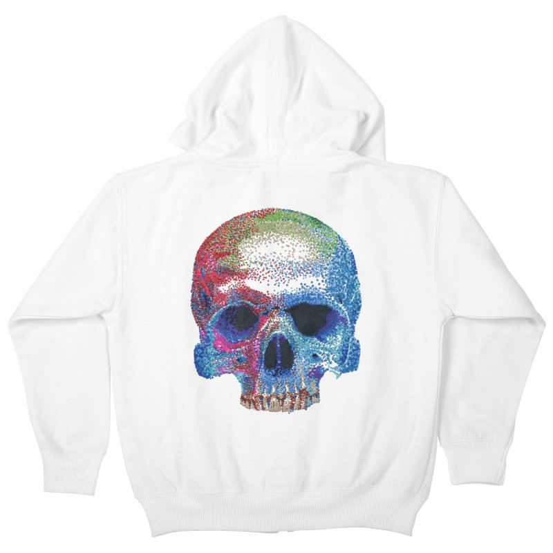 SKULL COLORFUL Kids Zip-Up Hoody by strawberrymonkey's Artist Shop