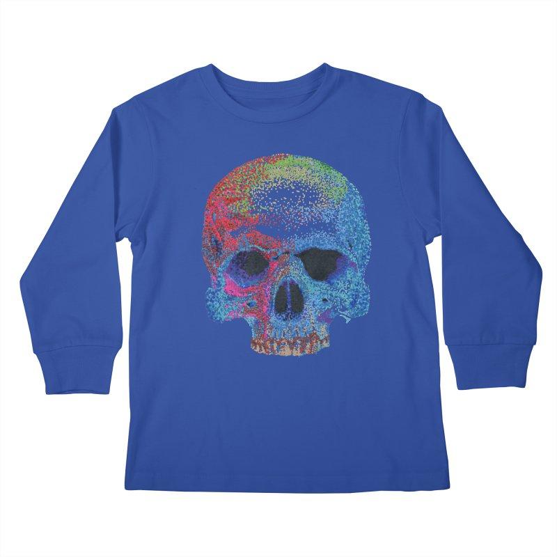 SKULL COLORFUL Kids Longsleeve T-Shirt by strawberrymonkey's Artist Shop