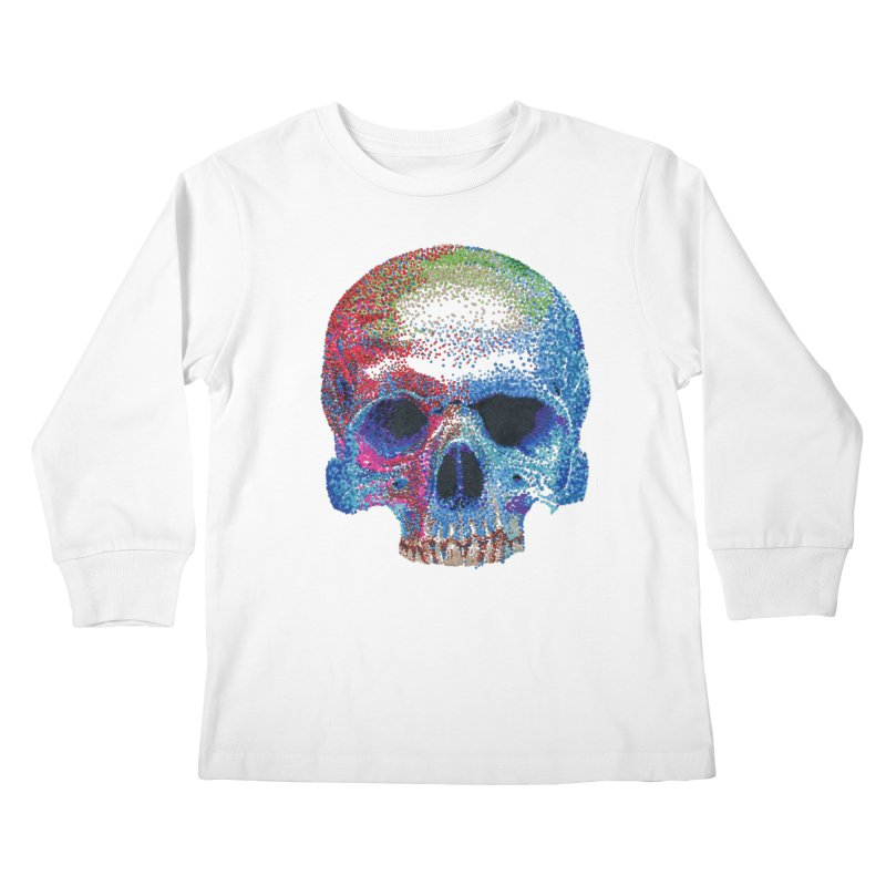 SKULL COLORFUL Kids Longsleeve T-Shirt by strawberrymonkey's Artist Shop