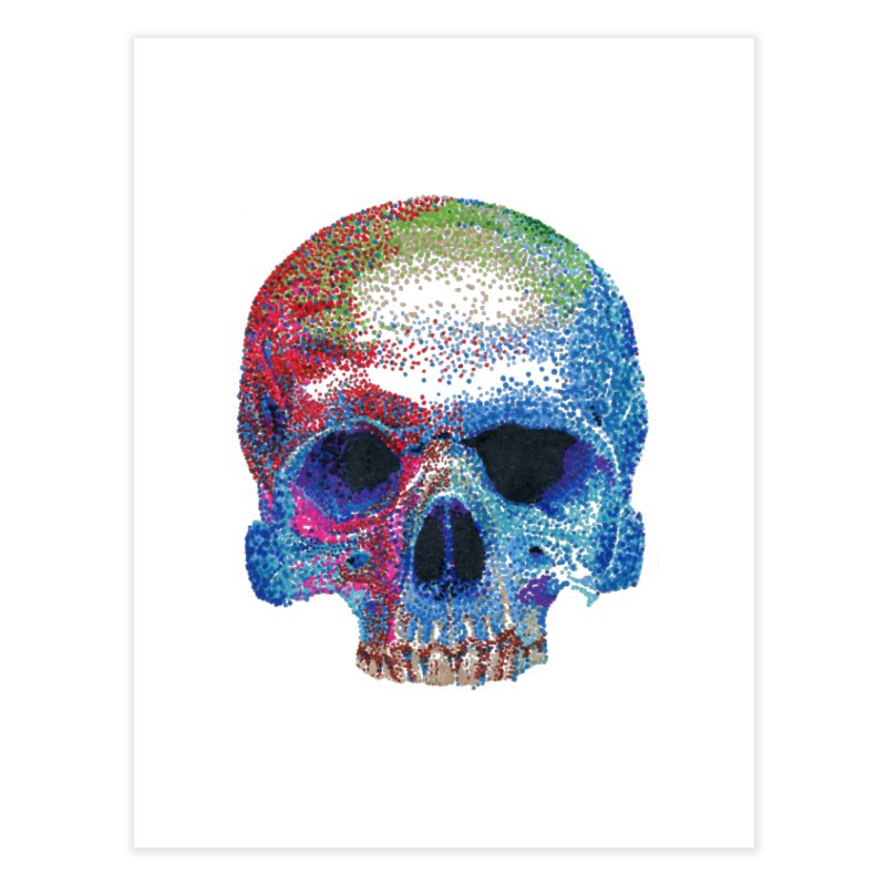 SKULL COLORFUL Home Fine Art Print by strawberrymonkey's Artist Shop