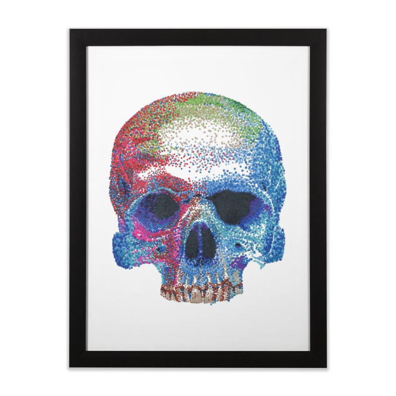 SKULL COLORFUL Home Framed Fine Art Print by strawberrymonkey's Artist Shop