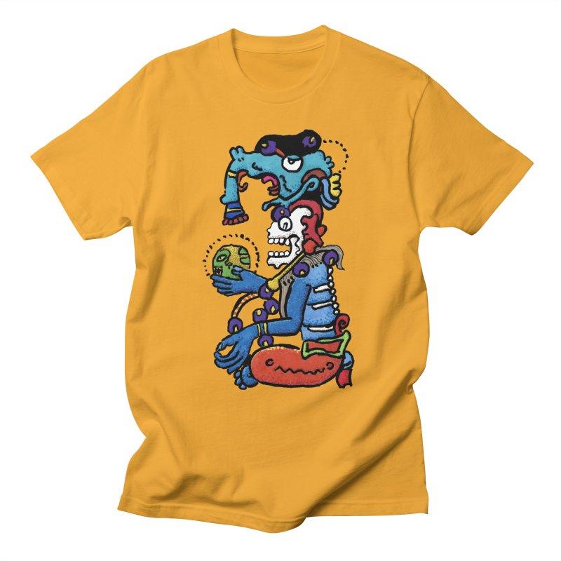MAYAN DEATH GOD Men's T-Shirt by strawberrymonkey's Artist Shop