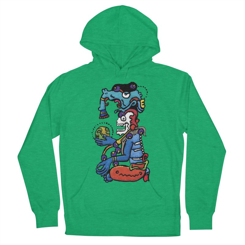 MAYAN DEATH GOD Women's French Terry Pullover Hoody by strawberrymonkey's Artist Shop