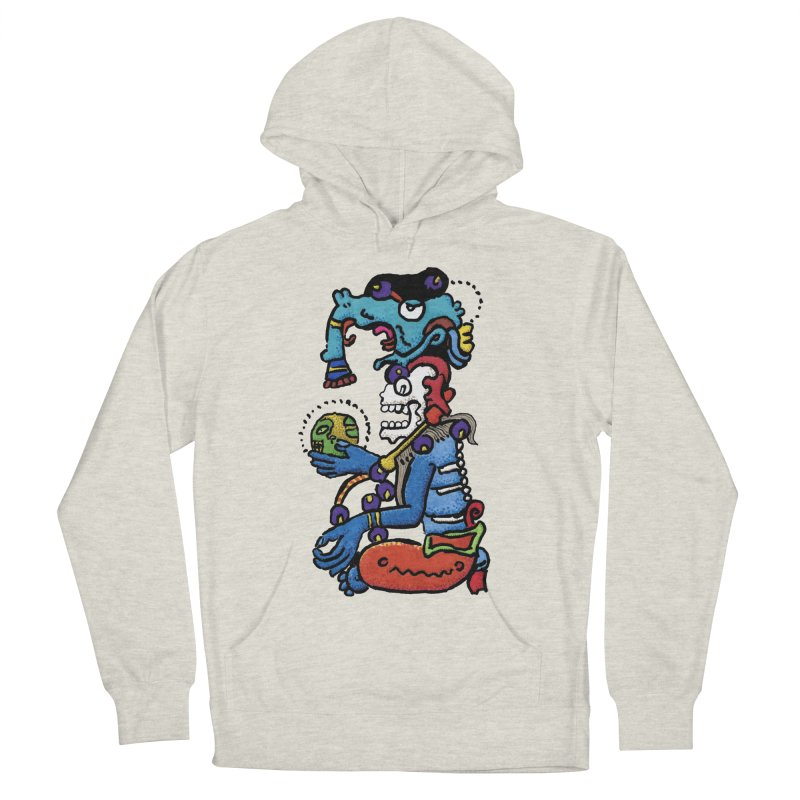 MAYAN DEATH GOD Men's French Terry Pullover Hoody by strawberrymonkey's Artist Shop