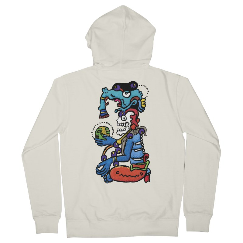 MAYAN DEATH GOD Women's Zip-Up Hoody by strawberrymonkey's Artist Shop