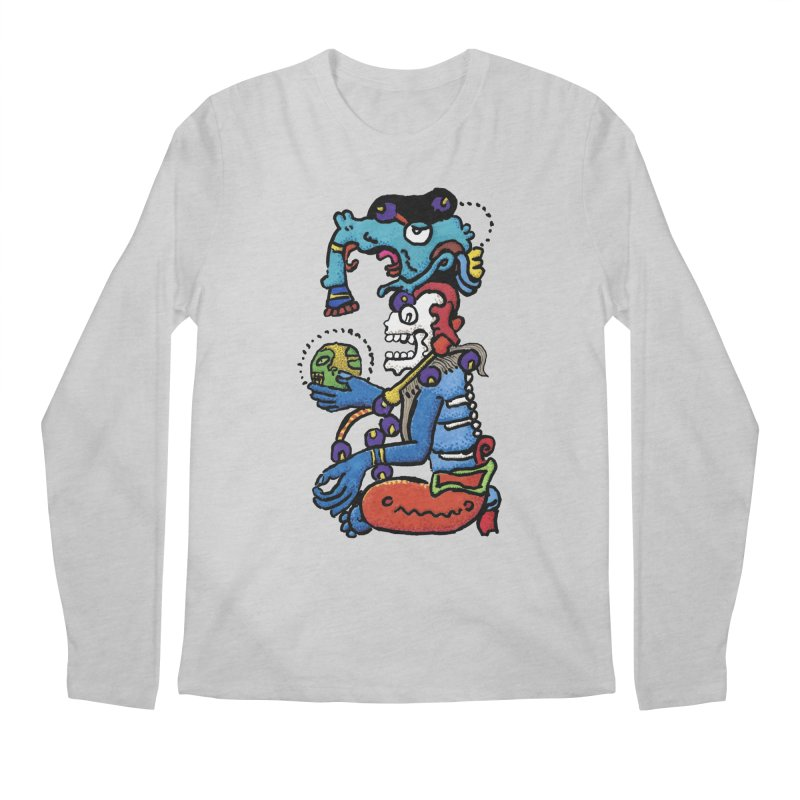 MAYAN DEATH GOD Men's Longsleeve T-Shirt by strawberrymonkey's Artist Shop
