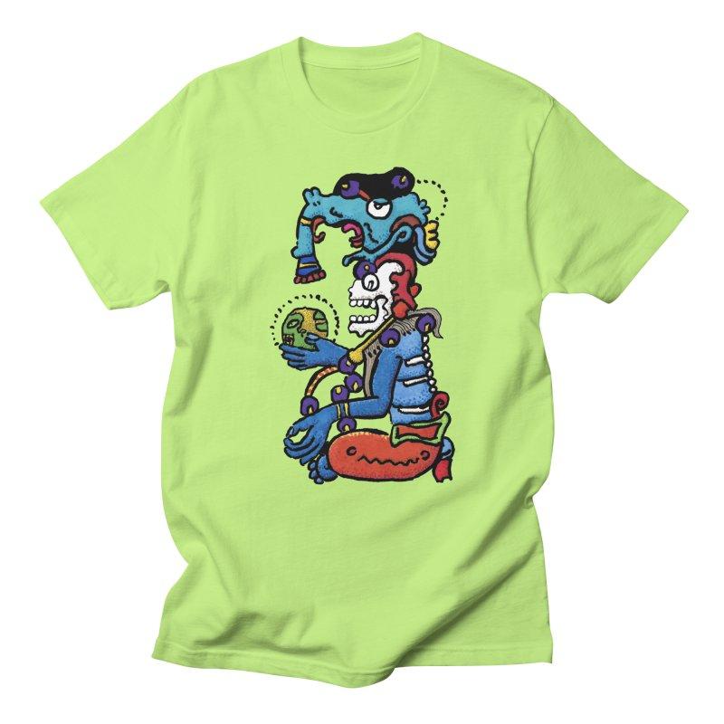 MAYAN DEATH GOD Men's Regular T-Shirt by strawberrymonkey's Artist Shop
