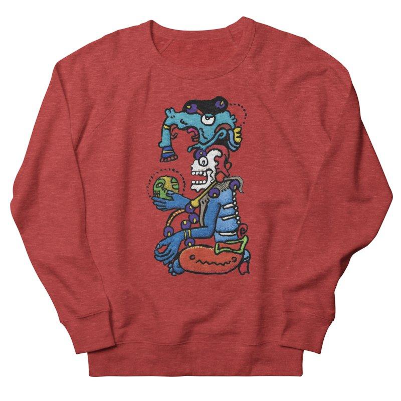 MAYAN DEATH GOD Women's French Terry Sweatshirt by strawberrymonkey's Artist Shop