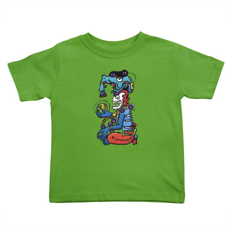 MAYAN DEATH GOD Kids Toddler T-Shirt by strawberrymonkey's Artist Shop