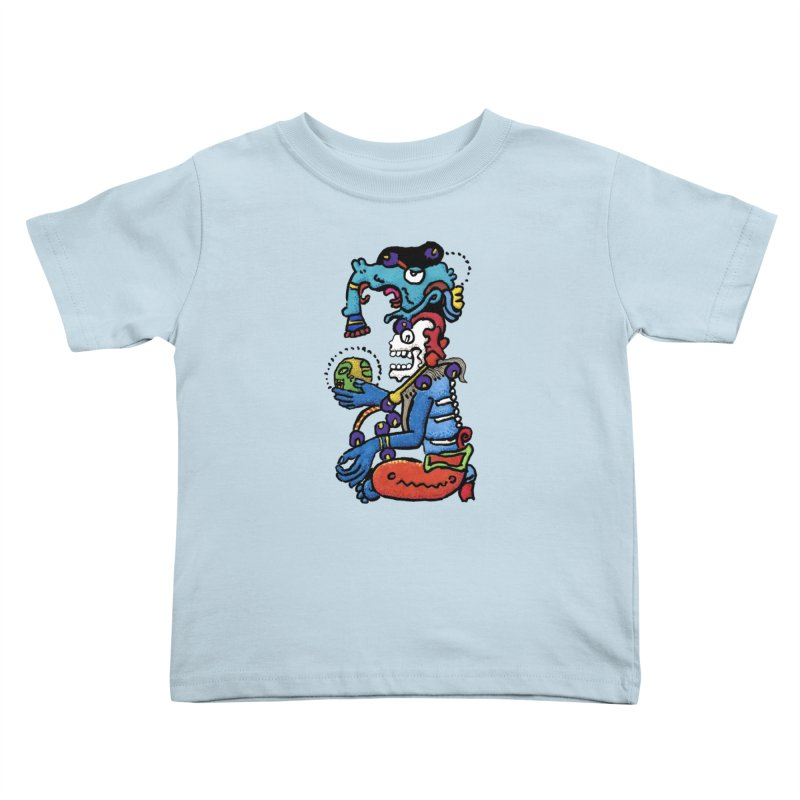 MAYAN DEATH GOD Kids Toddler T-Shirt by strawberrymonkey's Artist Shop