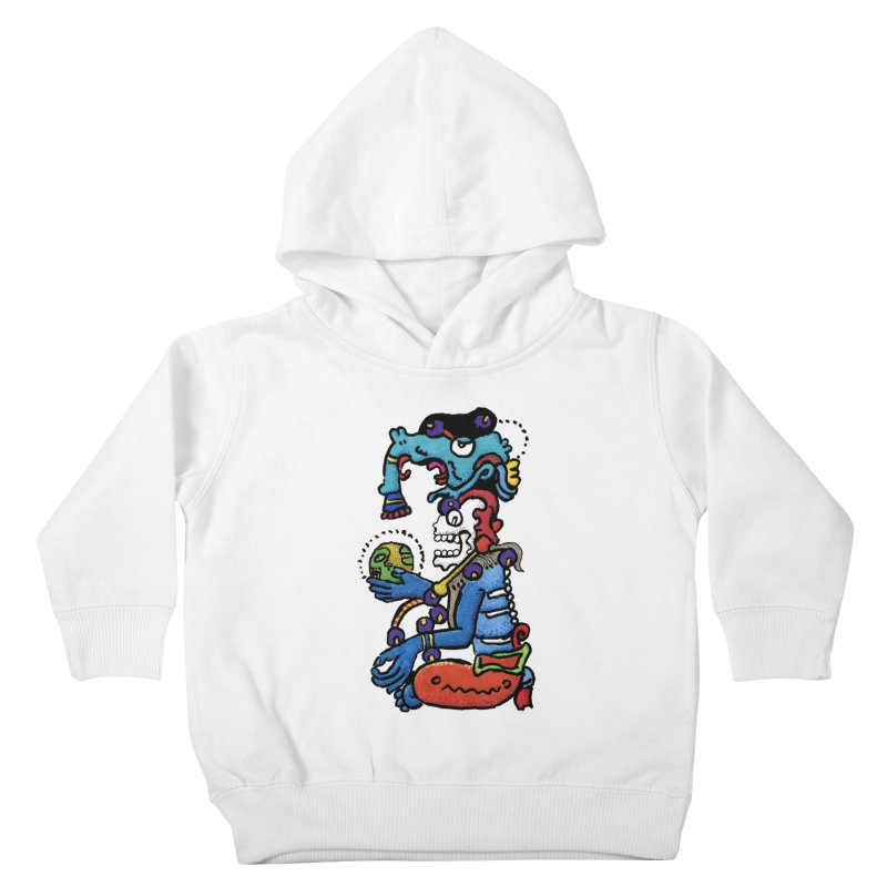 MAYAN DEATH GOD Kids Toddler Pullover Hoody by strawberrymonkey's Artist Shop