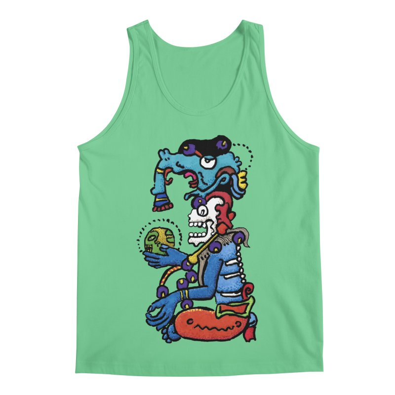 MAYAN DEATH GOD Men's Regular Tank by strawberrymonkey's Artist Shop