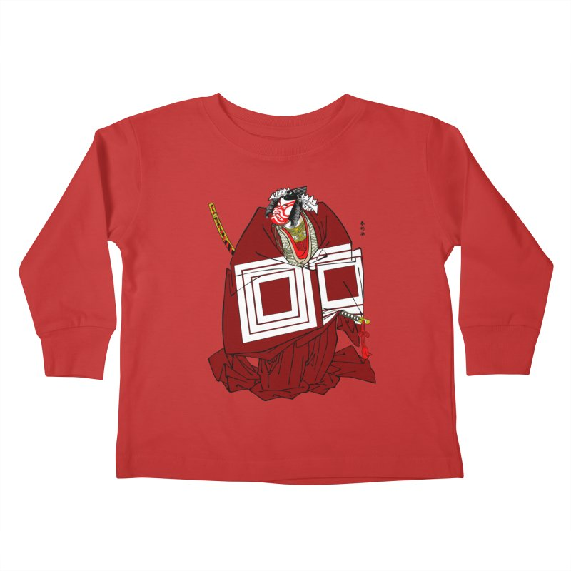 ICHIKAWA PERFORMS Kids Toddler Longsleeve T-Shirt by strawberrymonkey's Artist Shop