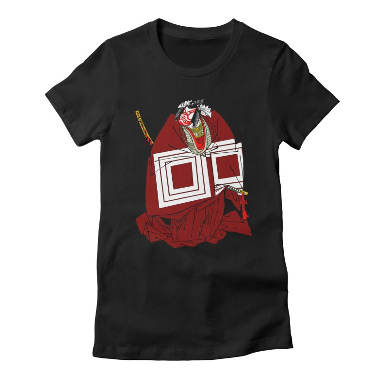 ICHIKAWA PERFORMS Women's Fitted T-Shirt by strawberrymonkey's Artist Shop