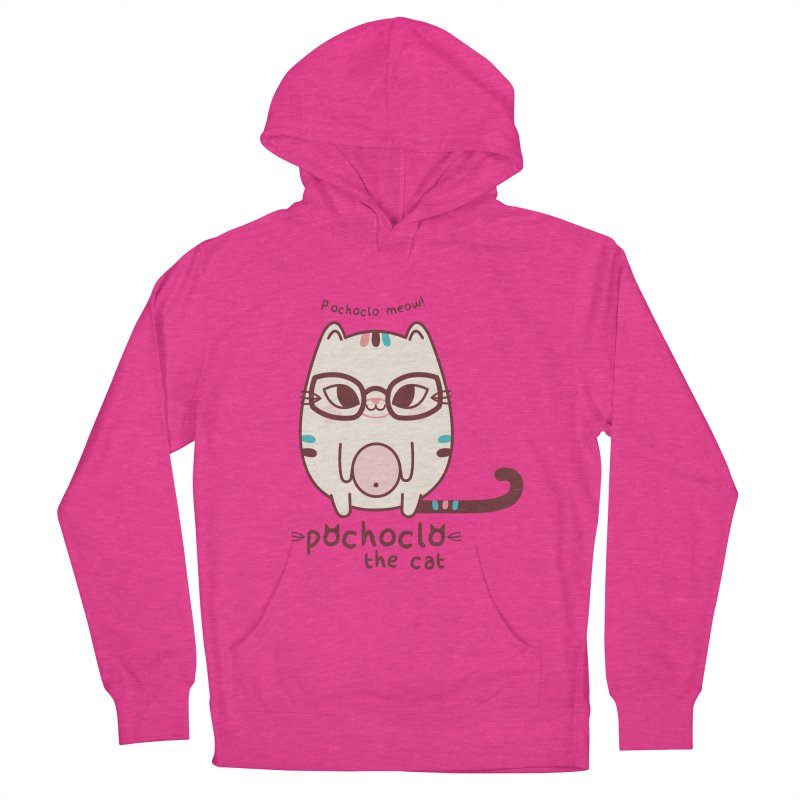 Pochoclo The Cat Women's Pullover Hoody by strawberrystyle's Artist Shop
