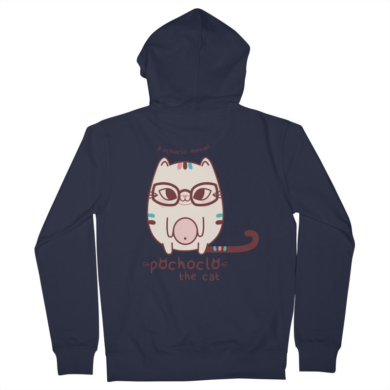 Pochoclo The Cat Women's Zip-Up Hoody by strawberrystyle's Artist Shop