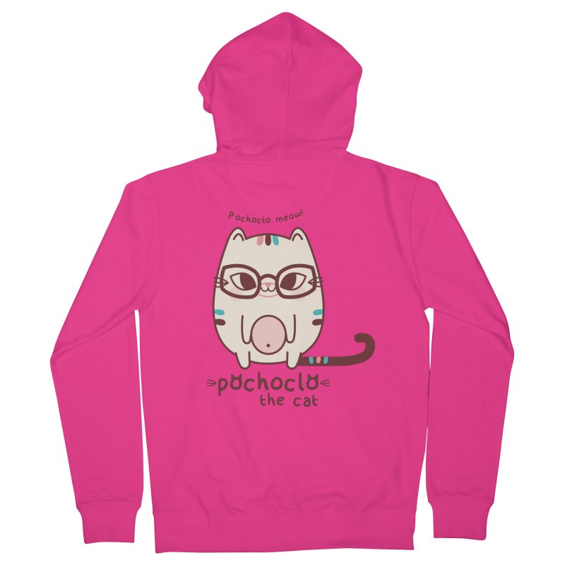 Pochoclo The Cat Men's Zip-Up Hoody by strawberrystyle's Artist Shop