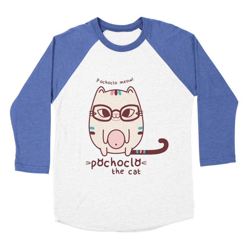 Pochoclo The Cat Men's Baseball Triblend T-Shirt by strawberrystyle's Artist Shop