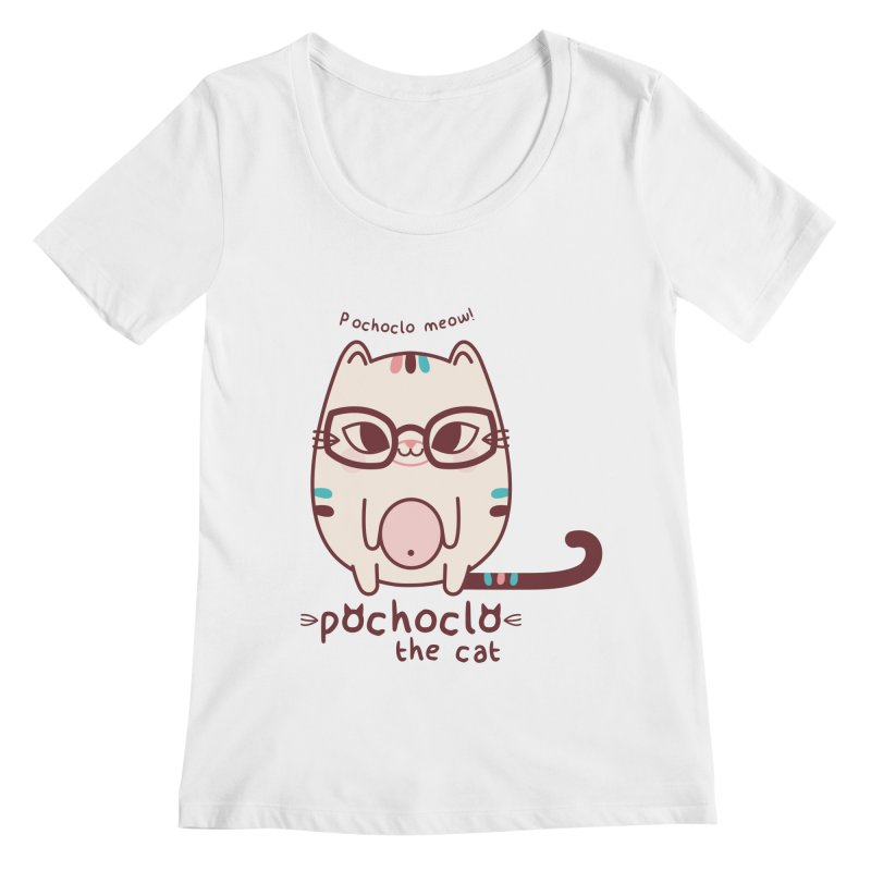 Pochoclo The Cat Women's Scoopneck by strawberrystyle's Artist Shop