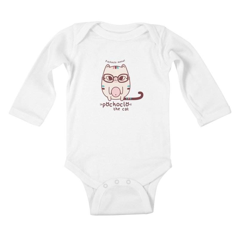 Pochoclo The Cat Kids Baby Longsleeve Bodysuit by strawberrystyle's Artist Shop