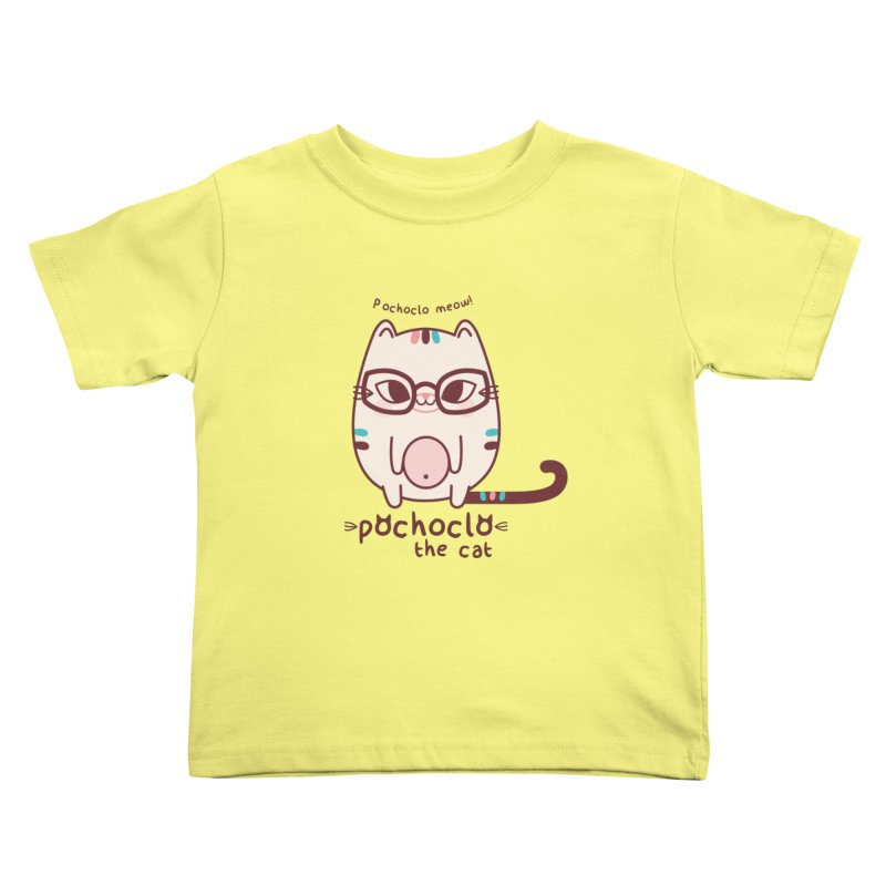 Pochoclo The Cat Kids Toddler T-Shirt by strawberrystyle's Artist Shop