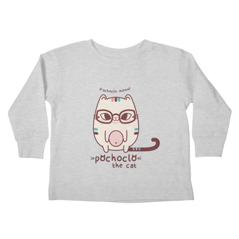 Pochoclo The Cat Kids Toddler Longsleeve T-Shirt by strawberrystyle's Artist Shop