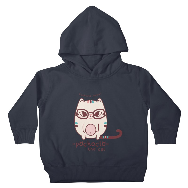 Pochoclo The Cat Kids Toddler Pullover Hoody by strawberrystyle's Artist Shop