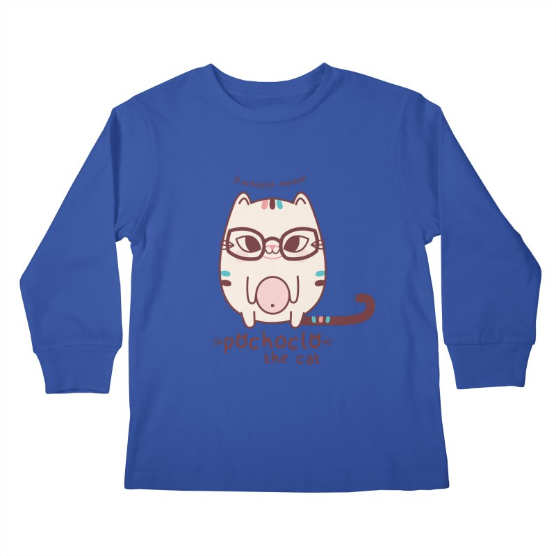 Pochoclo The Cat Kids Longsleeve T-Shirt by strawberrystyle's Artist Shop
