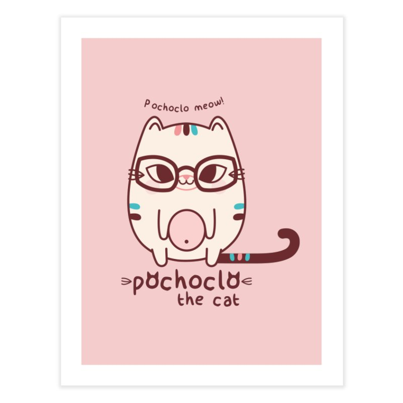 Pochoclo The Cat Home Fine Art Print by strawberrystyle's Artist Shop