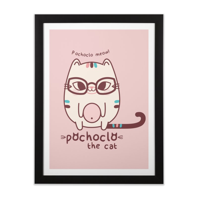 Pochoclo The Cat Home Framed Fine Art Print by strawberrystyle's Artist Shop