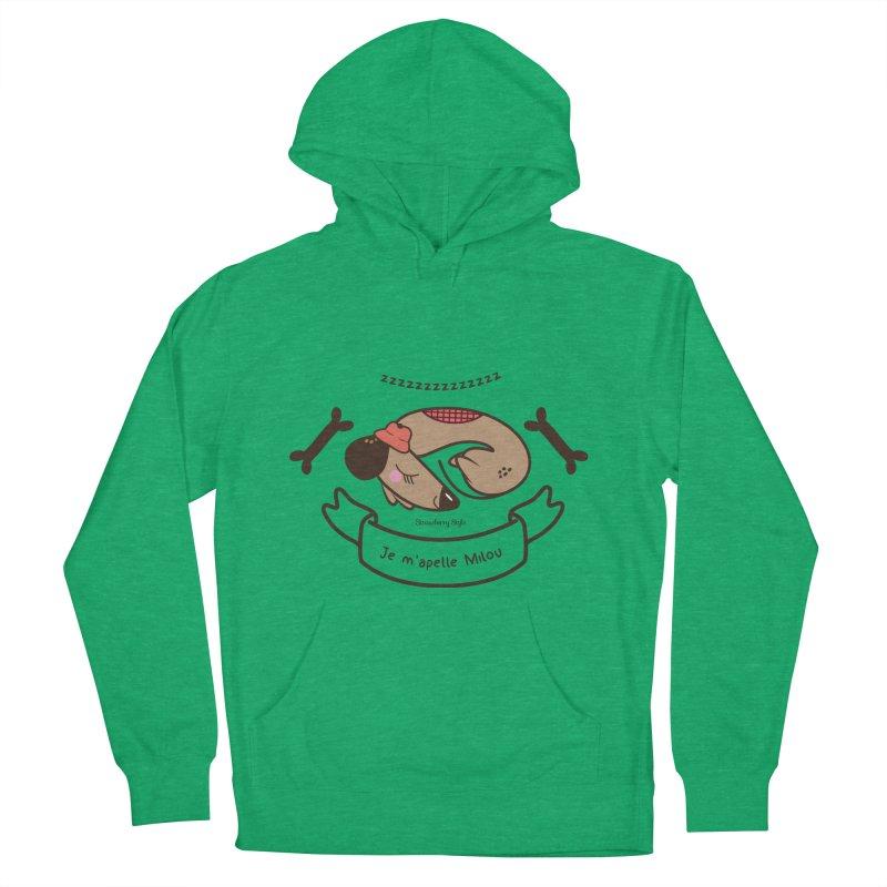 Je m'appelle Milou Women's Pullover Hoody by strawberrystyle's Artist Shop
