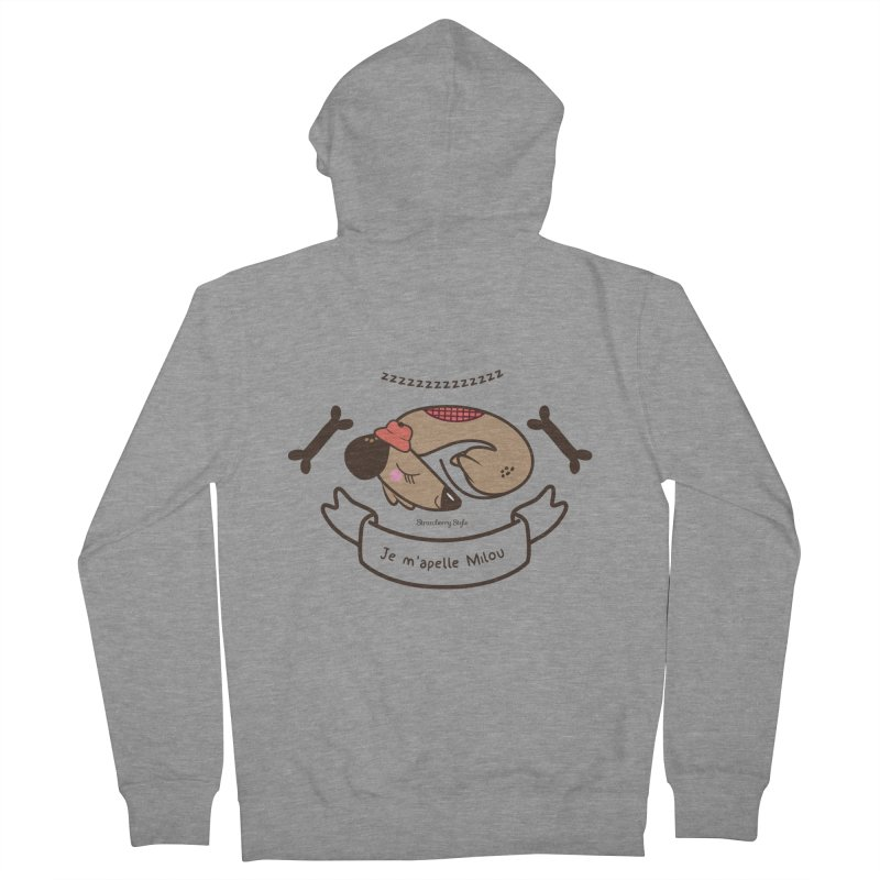 Je m'appelle Milou Men's Zip-Up Hoody by strawberrystyle's Artist Shop