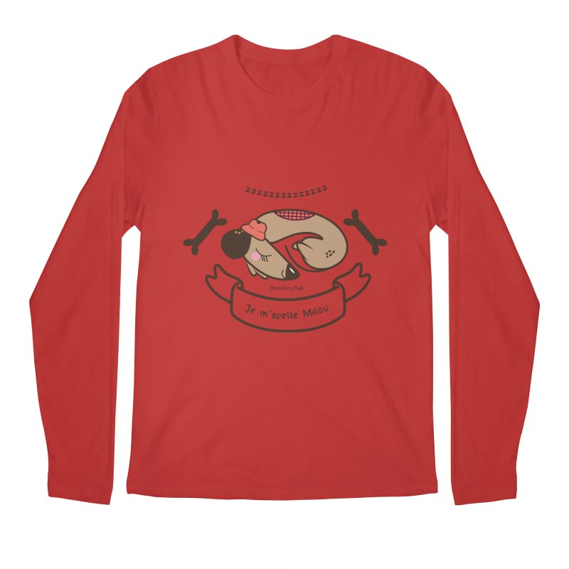 Je m'appelle Milou Men's Longsleeve T-Shirt by strawberrystyle's Artist Shop