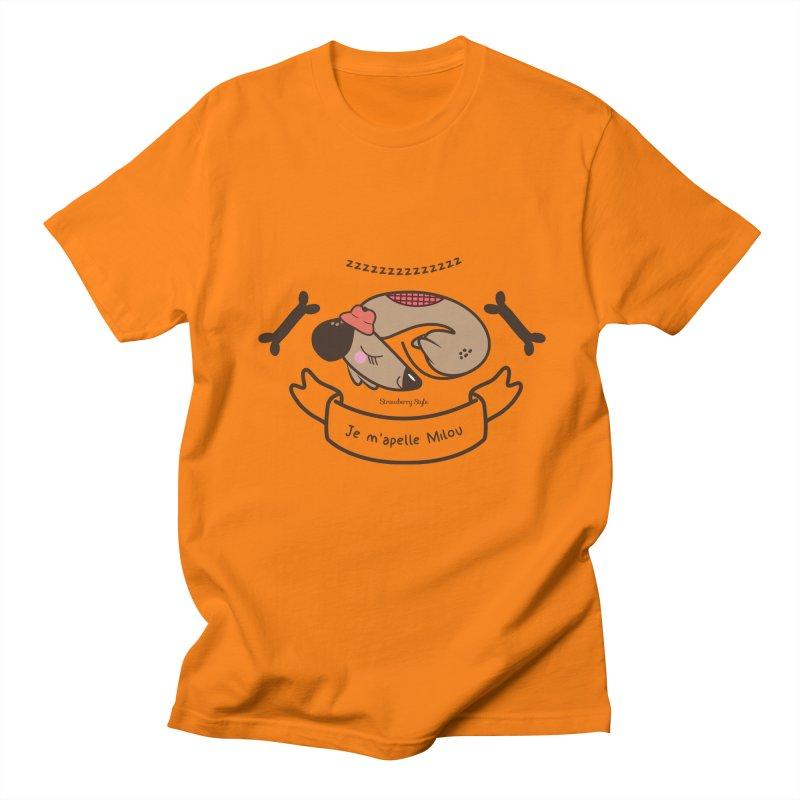 Je m'appelle Milou Men's T-Shirt by strawberrystyle's Artist Shop