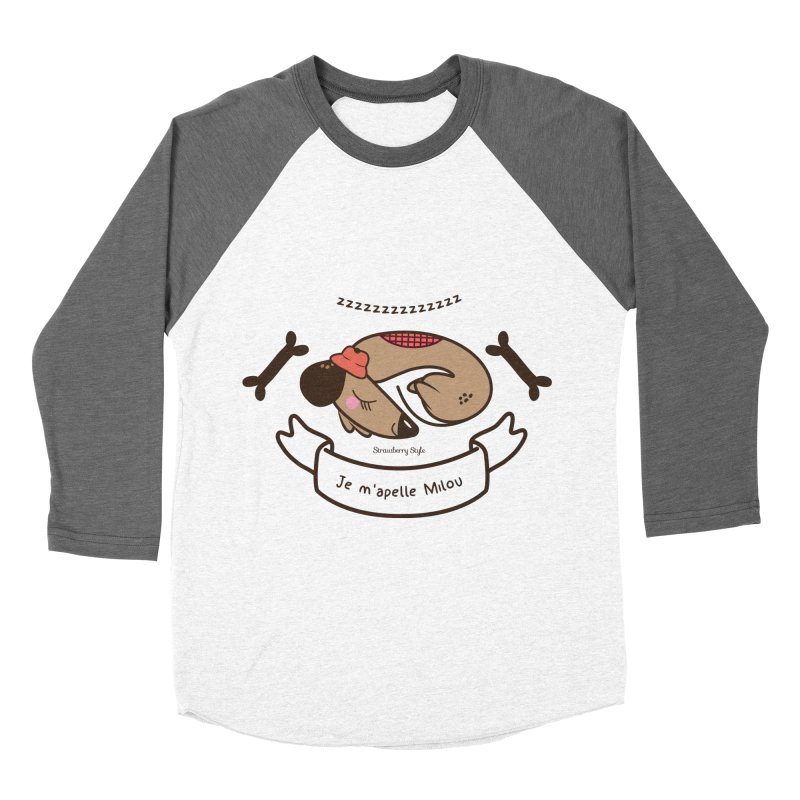 Je m'appelle Milou Women's Baseball Triblend T-Shirt by strawberrystyle's Artist Shop