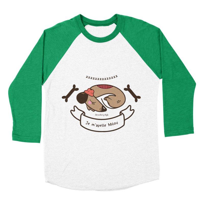 Je m'appelle Milou Women's Baseball Triblend T-Shirt by strawberrystyle's Artist Shop