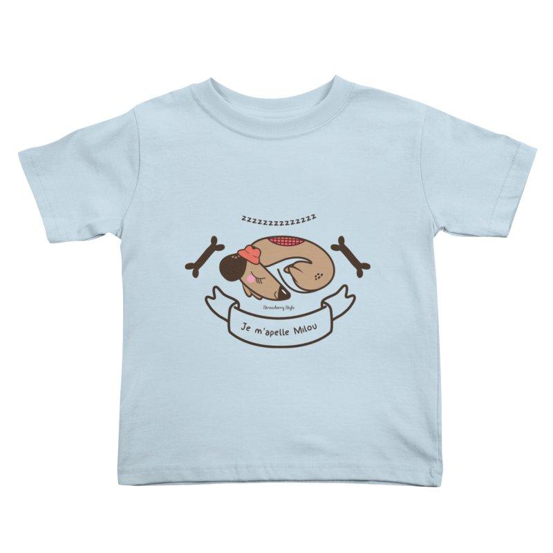 Je m'appelle Milou Kids Toddler T-Shirt by strawberrystyle's Artist Shop